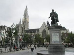 Historic Center quarter of Antwerp