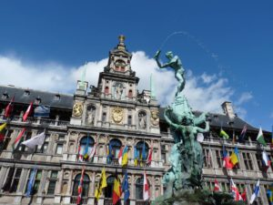 Historic Center quarter of Antwerp: Town Hill