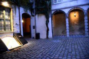 Vlaaikes gang in the Historic center quarter of Antwerp